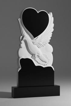 Памятник Голубь с сердцем