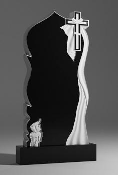 Памятник Крест плащеница и свеча