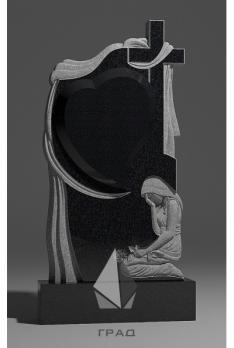 Памятник Крест православный со скорбящей