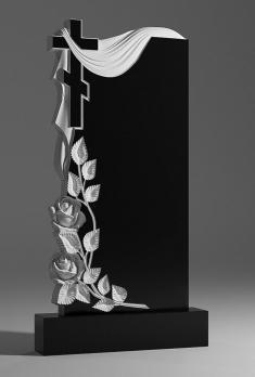 Памятник Крест с розами