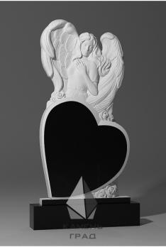 Памятник Ангел с большим сердцем