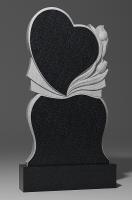 Памятник Сердце с тюльпанами